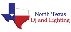 North Texas DJ and Lighting Sticky Logo